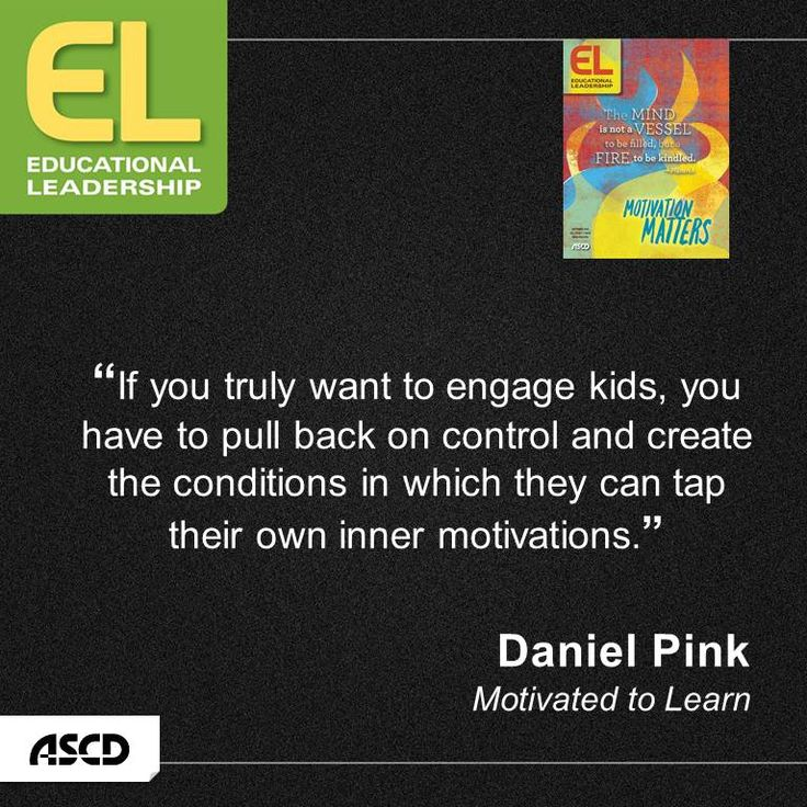 Daniel Pink explains that schools must upgrade autonomy to engage students in learning.