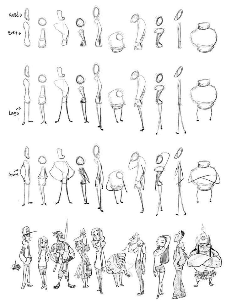 Proceso de Sketch de personajes
