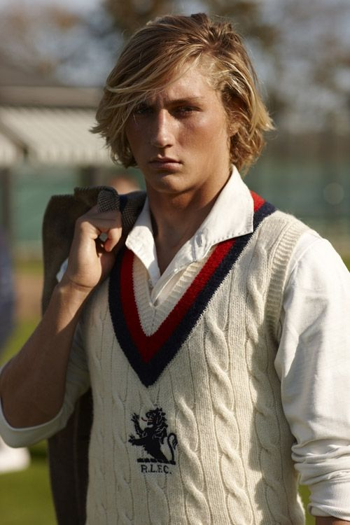 Perfectly preppy.: Ralph Lauren, Club Spring, Cricket Sweaters, Perfect Preppy, Cricket Vest, Preppy Men, Accessoir Men, Sports Fashion, Sweaters Vest