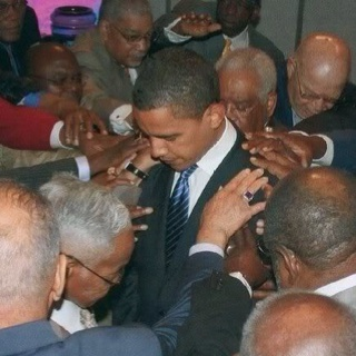 President Barack Obama Prayer Circle