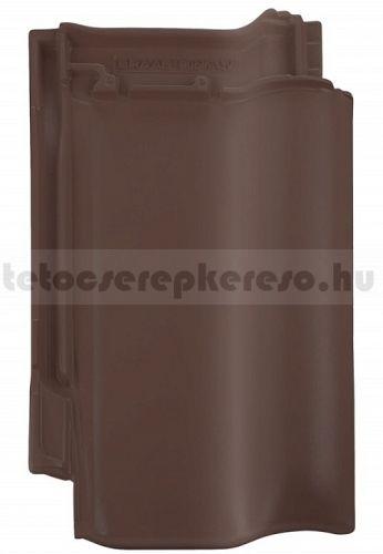Bramac Rubin 9V kerámia matt, engóbozott sötétbarna tetőcserép akciós áron a tetocserepkereso.hu ajánlatában