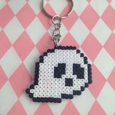 Porte-clés fantôme spécial halloween en perles à repasser