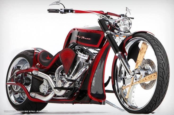 Paul Jr Designs built a custom bike for major league baseball player Aaron Rowand's personal use.