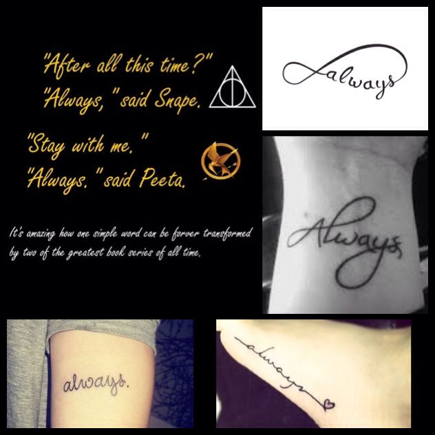 "'Always' Tattoo Ideas in Honor of ""The Hunger Games"" and ""Harry Potter"""