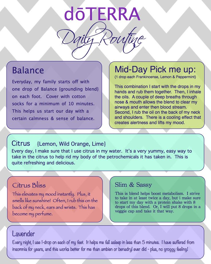Daily Routine using #doterra essential oils. Get the most out of your essential…