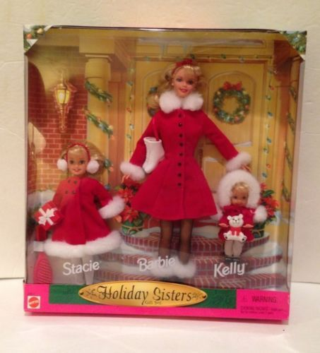 1999 Barbie Holiday Sisters 3 Doll Gift Pack Stacie Barbie Kelly 23617 | eBay