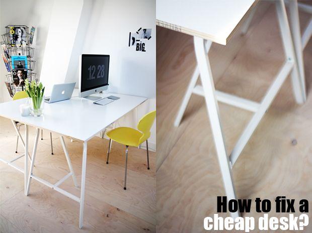 Die besten 25+ billiger Schreibtisch Ideen auf Pinterest - schreibtisch selber bauen ikea