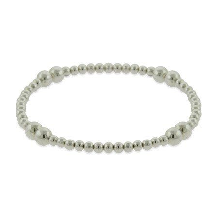 Sterling Silver Bead Stretch Bracelet Eve's Addiction. $36.00. Approximate Weight: 4.4 grams