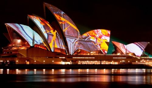 Sydney Opera House - Changing colours