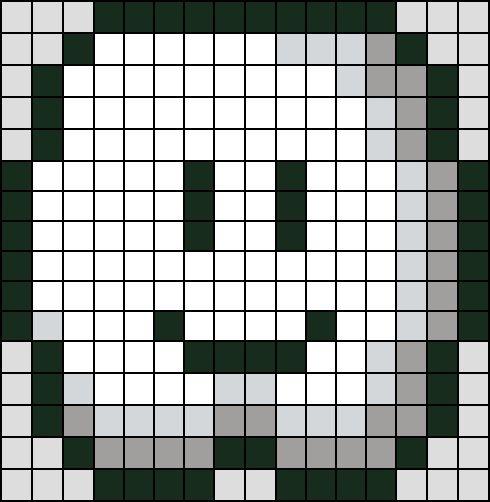 Patron / Pattern : Nuage Buisson Super Mario NINTENDO en Perle HAMA (Mini)    Taille de la grille 16 x 16 (soit environ  4,0 x 4,0 cm)    Nombre de perles totales : 222 (sans le fond, que le nuage)