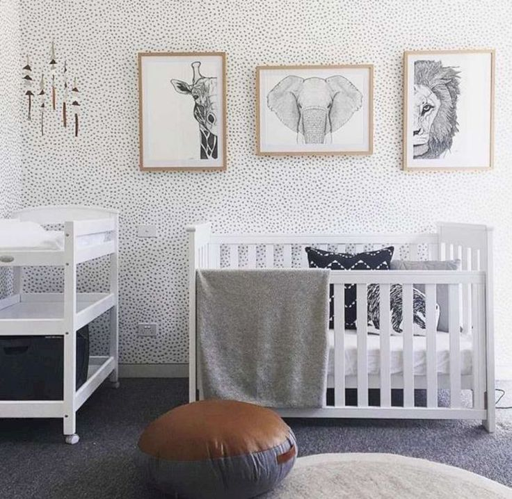 Simple baby boy nursery room design ideas
