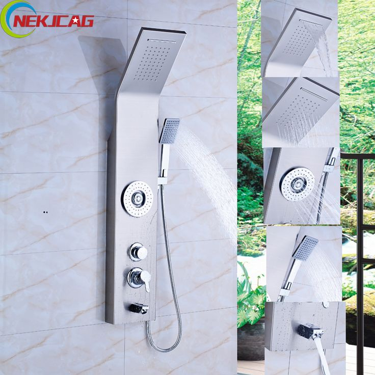 High Quality Bathroom Shower Panels Rainfall Water Tower Shower Column  Faucet Single Handle With Massage Jet