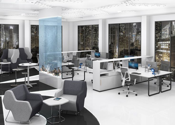 High-tech and futuristic office is perfect for a strong and progressive brand #MYoffice #MakeYourSpace