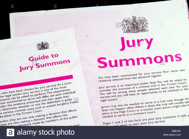 Jury summons papers England UK Issue by Her Majestys Court - civil summons form