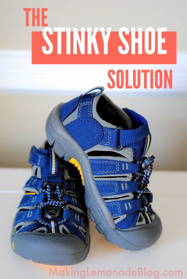 Here's the secret to getting rid of bad odors with this all-natural stinky shoe solution! Whether you've got UGGS, Keens, sneakers or flip flop she shares the secret for getting rid of shoe odors naturally!