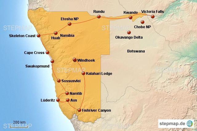 Planung Eines Roadtrips Durch Namibia Und Botswana Namibia