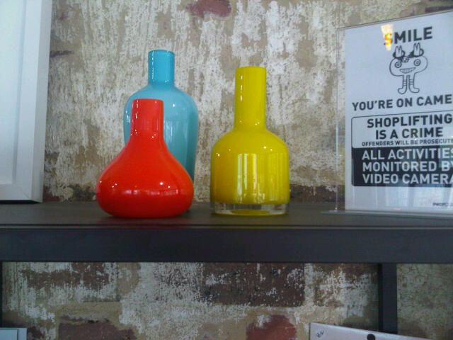 Pro Forma group of vases (max 11 cm?) in Johnson St - around $50 for 3