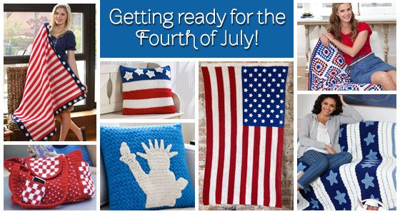 Getting ready for the Fourth of July! Free Knitting and Crochet Patterns.