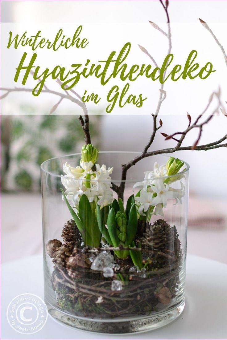 Hyazinthen winterlich dekorieren – ich zeige Dir, wie Du sie naturnah dekorieren