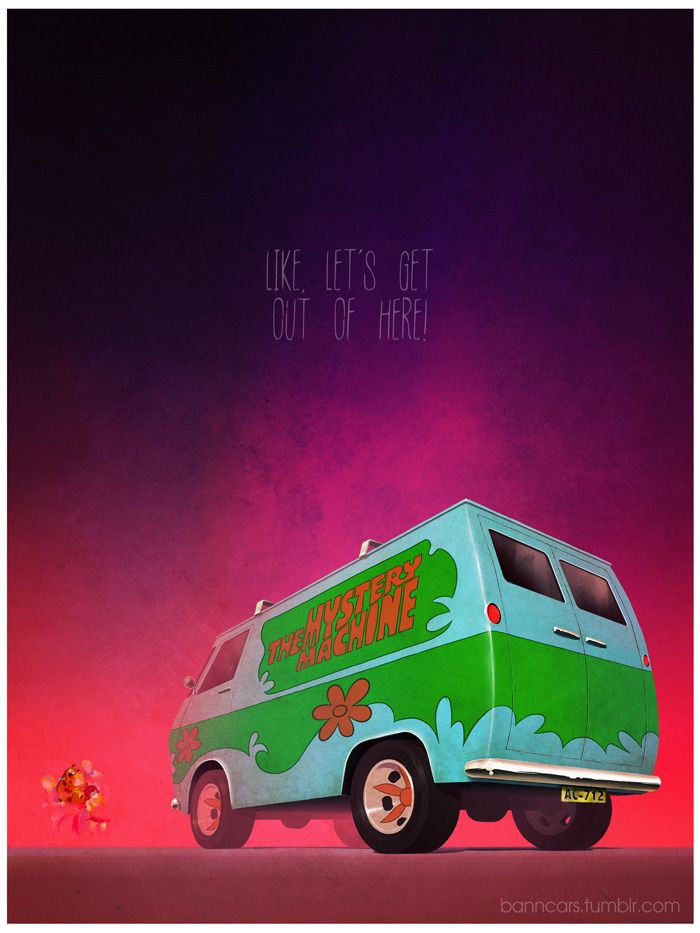 Scooby Doo Mystery Machine by Nicolas Bannister.