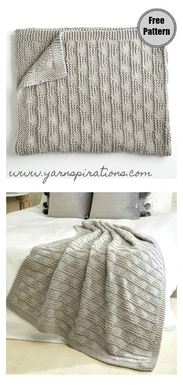Textured Squares. Knitting Pattern Bedspread//Afghan//Blanket//Throw /& Cushions