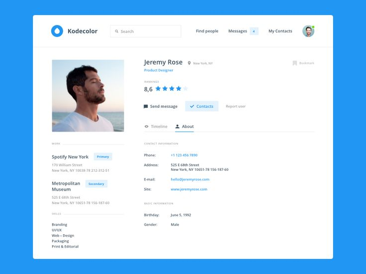 50 User profile page — Design Inspiration – Muzli -Design Inspiration