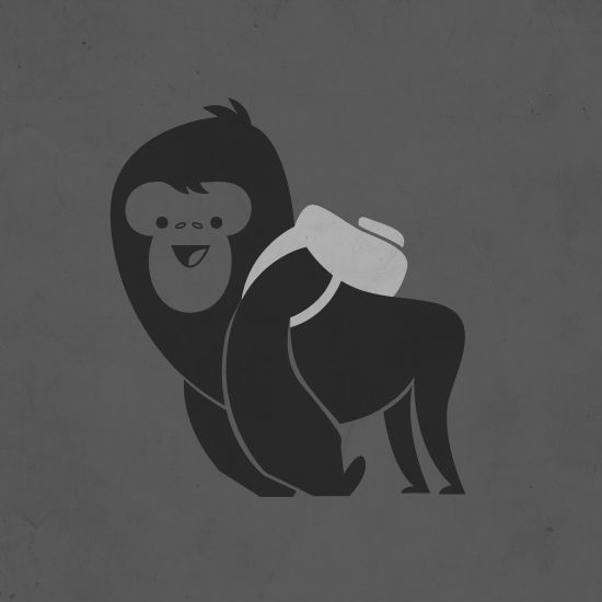 Silverback(pack) gorilla by skinnyandy, via Flickr