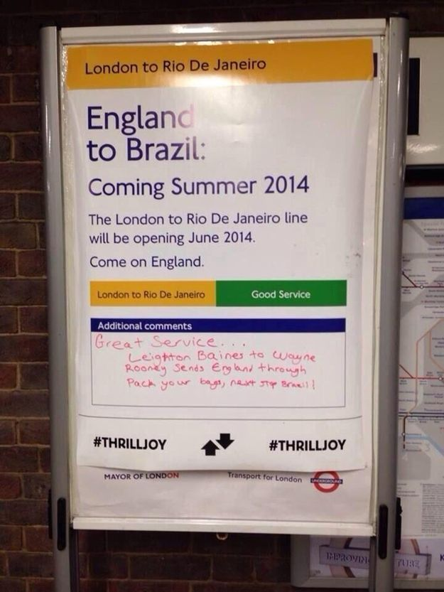 This Sign Was Spotted At Wembley Park