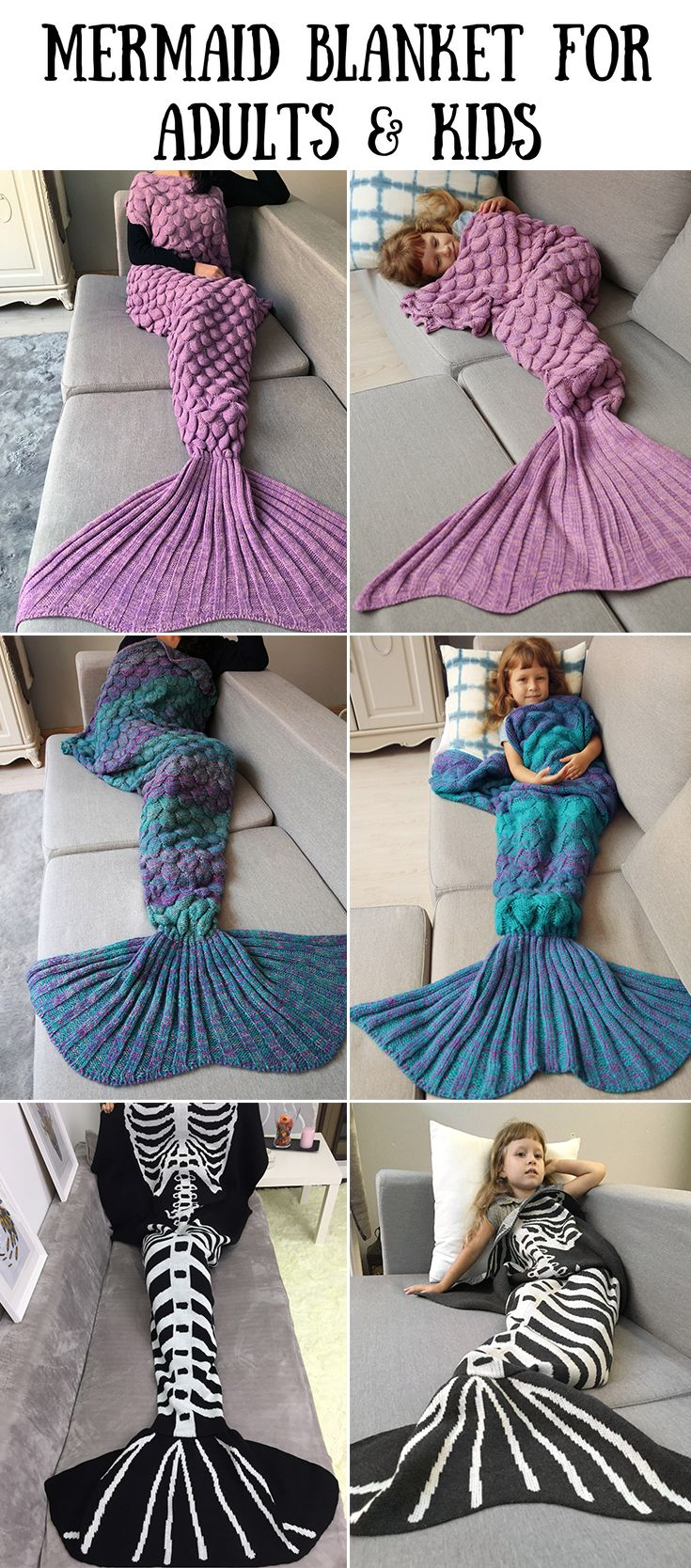 100+ Ultra-cozy Mermaid Blankets for Adults and Kids | Up to 75% off | #Blanket #Mermaid