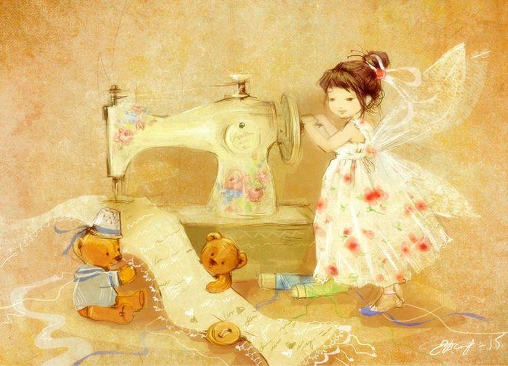 Днем, 13 июня день рождения швейной машинки открытки