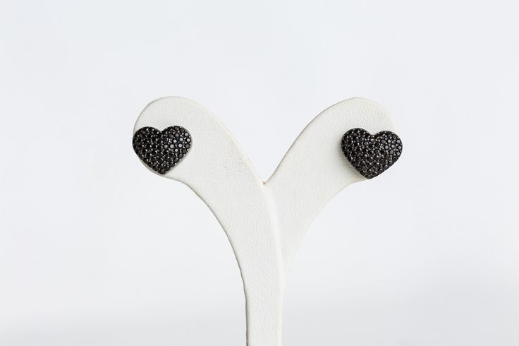 Heart earrings with spinel stones- Price:59.00€