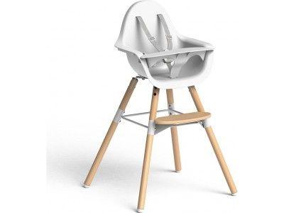 Chaise EVOLU 2 Naturel/Blanc 2 en 1 avec arceau