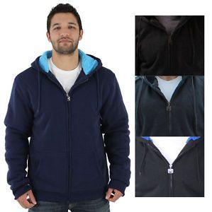 Buy Moda Essentials Mens Sherpa Lined Zip Up Hoodie Sweatshirt Big & Tall Available