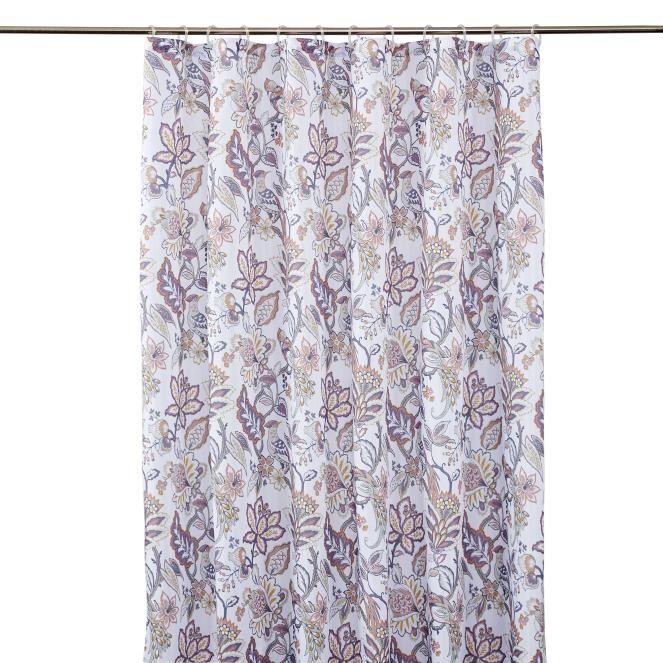Multirosa Blommig Duschdraperi Francine - Hemtex