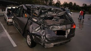 Is rear facing safe when you're rear ended?