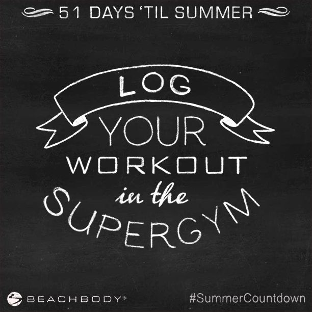 51 Days 'Til Summer! Today's Challenge: Log Your Workout #SummerCountdown