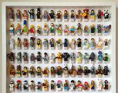 Lego Frame, Large Display Case for Lego Minifigures. Holds 105 Minifigs