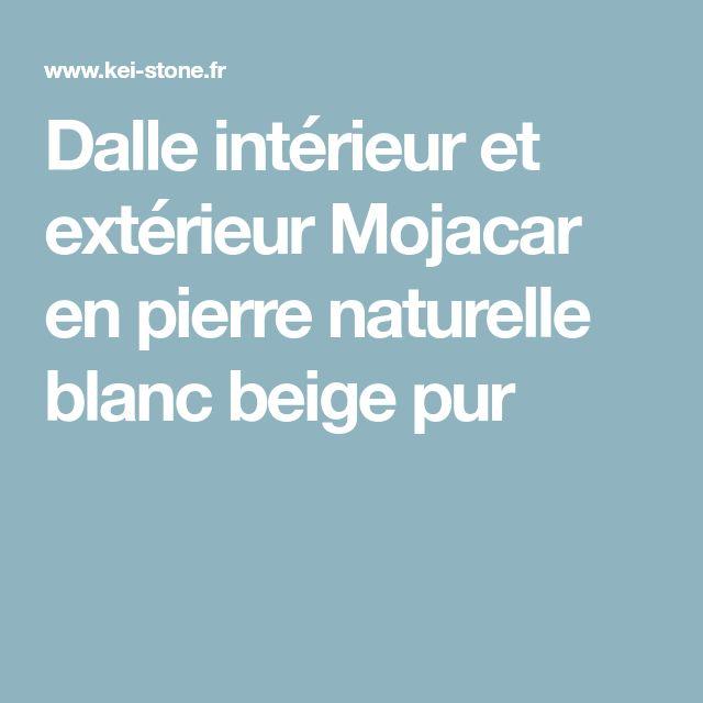 Dalle intérieur et extérieur Mojacar en pierre naturelle blanc beige pur