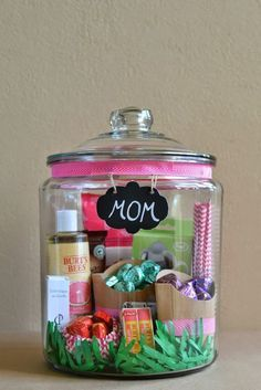 Mother's Day Homemade Gift in A Jar - 21 Heartfelt DIY Mother's Day Gift Ideas | GleamItUp