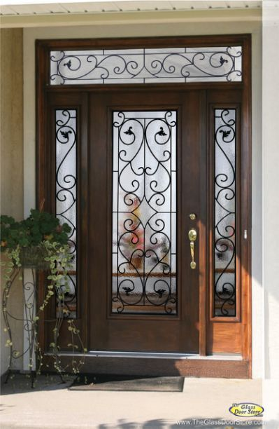 Wrought Iron Glass Front Entry