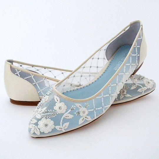 Bella Belle Flat Wedding Shoes | Allegra Lace Wedding Flats ON SALE