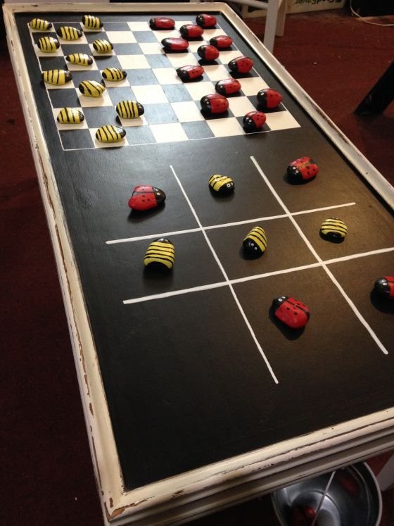 DIY Game Tables - Tutorials, including this DIY game table and pieces by 'Cookies Craft and Chaos'!