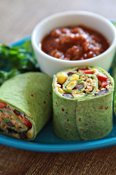 queso fresco + chipotle chicken and veggie wrap  {Good Life Eats} ... perfect for Keith's lunch