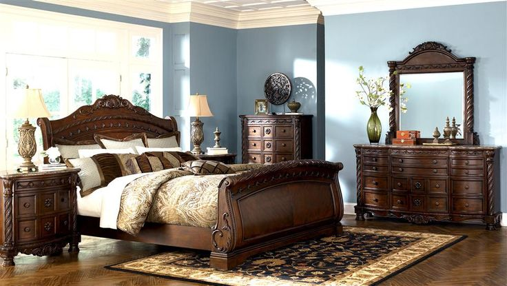 bedroom furniture discounts ashley north shore sleigh set sets pinterest