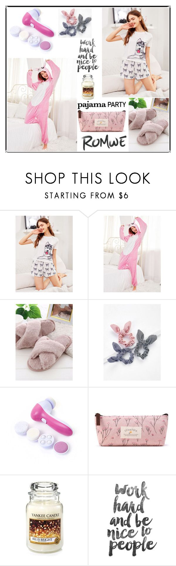"""""""Romwe 7./11"""" by b-necka ❤ liked on Polyvore featuring Yankee Candle and romwe"""