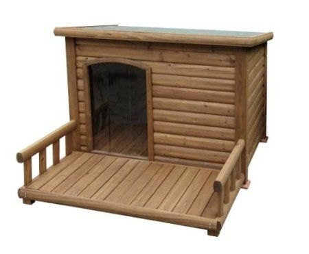 Kerbl Hundehütte mit Terrasse, 113 x 127 x 83 cm: Amazon.de: Haustier