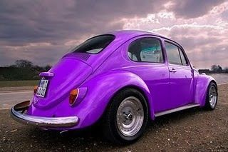 Purple Volkswagon Beetle