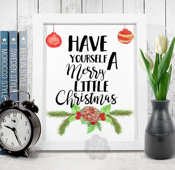 Merry Little Christmas Printable Wall Art by PrettyStylingArt