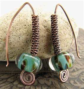 `: Wire Jewelry, Beads Earrings, Beads Design, Copper Earrings, Wire Wraps, Wraps Ears, Sundown Beads, Beads Combos, Ears Rings