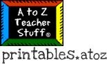 A to Z Teacher Stuff Printable Pages and Worksheets